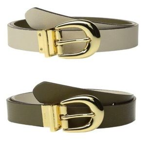 L Ralph Lauren S-L  Reversible Leather Belt